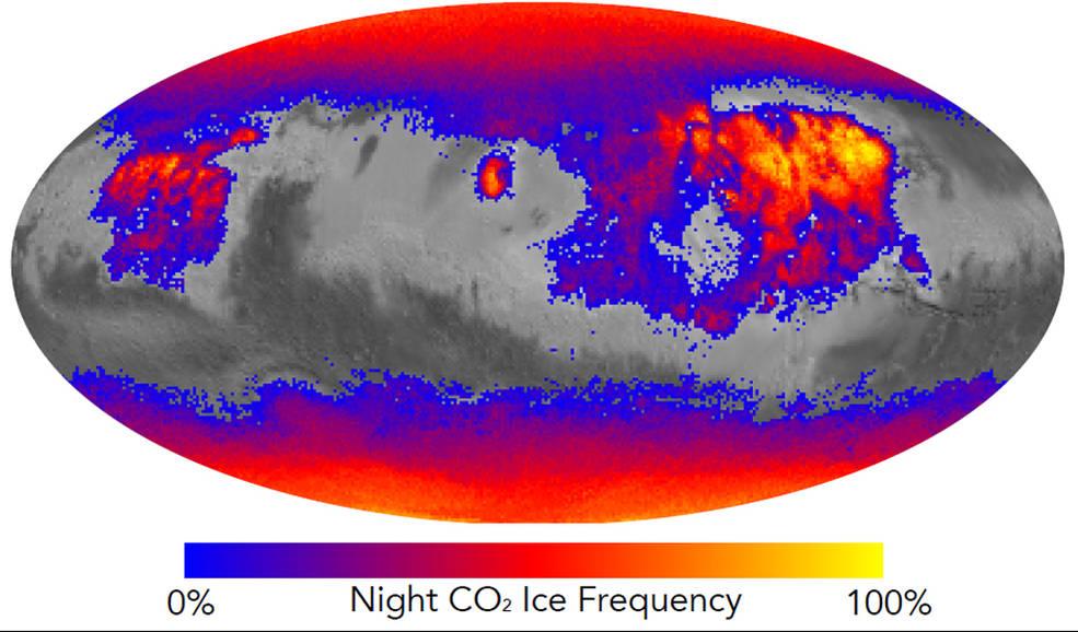 Store temperaturudsving om natten på Mars, kan hvirvle støv op