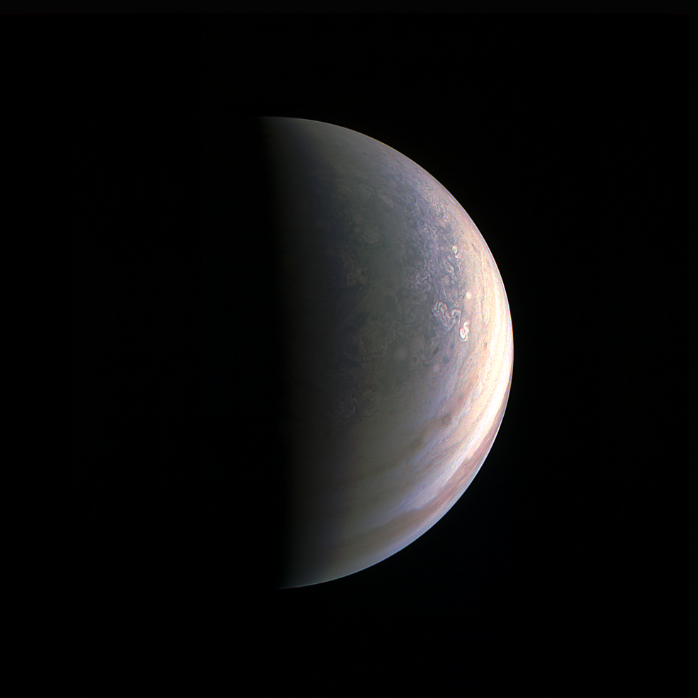 Jupiters nord-pol 27 august 2016