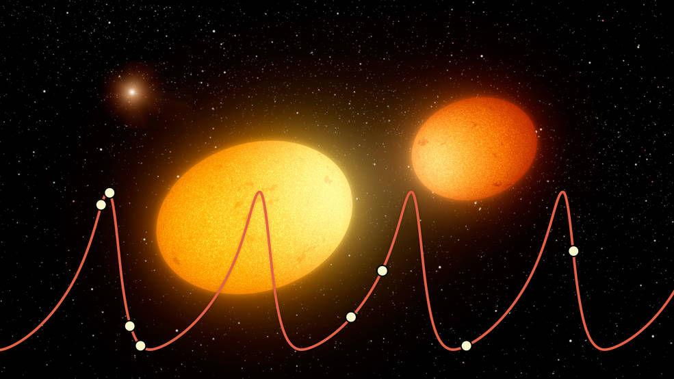 """This artist's concept depicts """"heartbeat stars"""""""