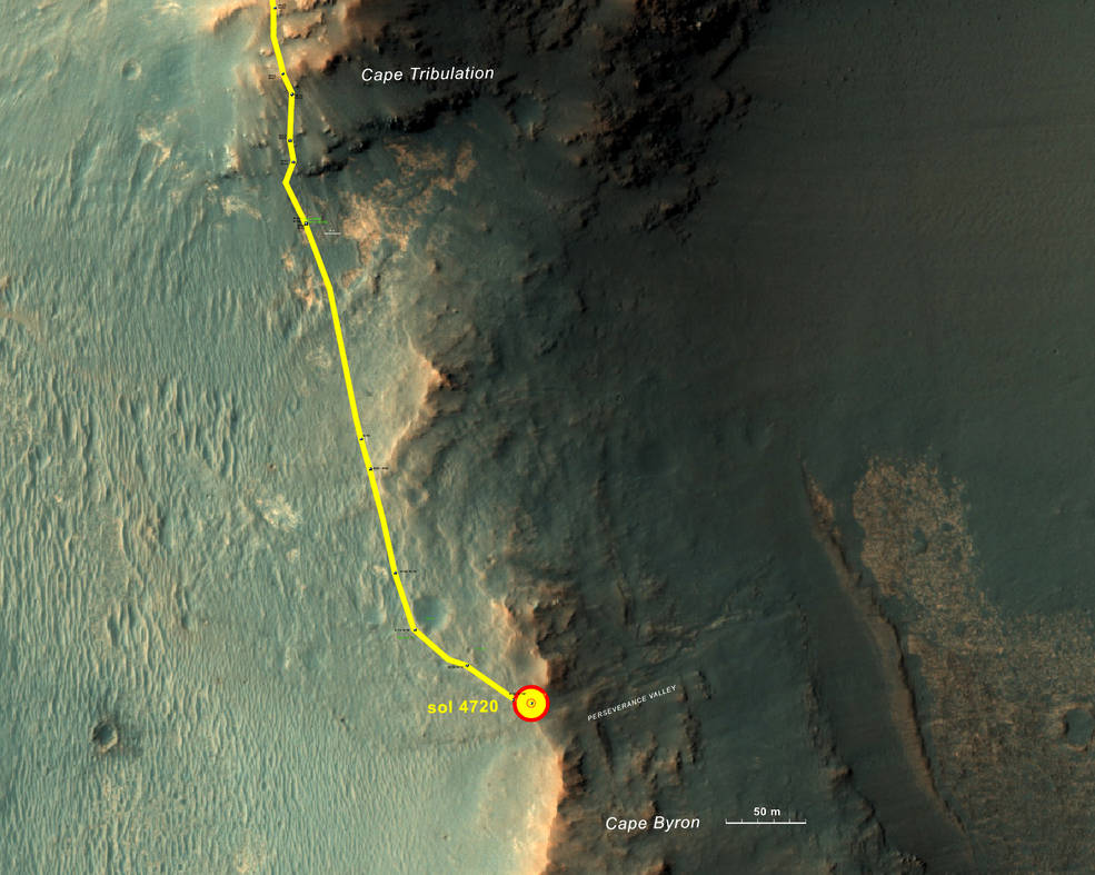 Rover's route