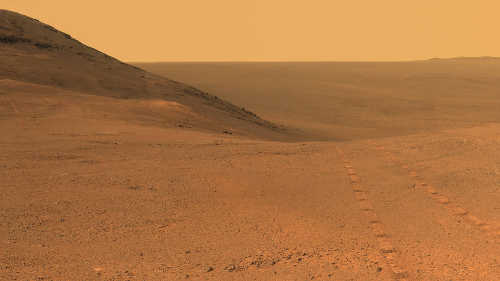 Martian Skies Clearing over Opportunity Rover Pia21723-16b