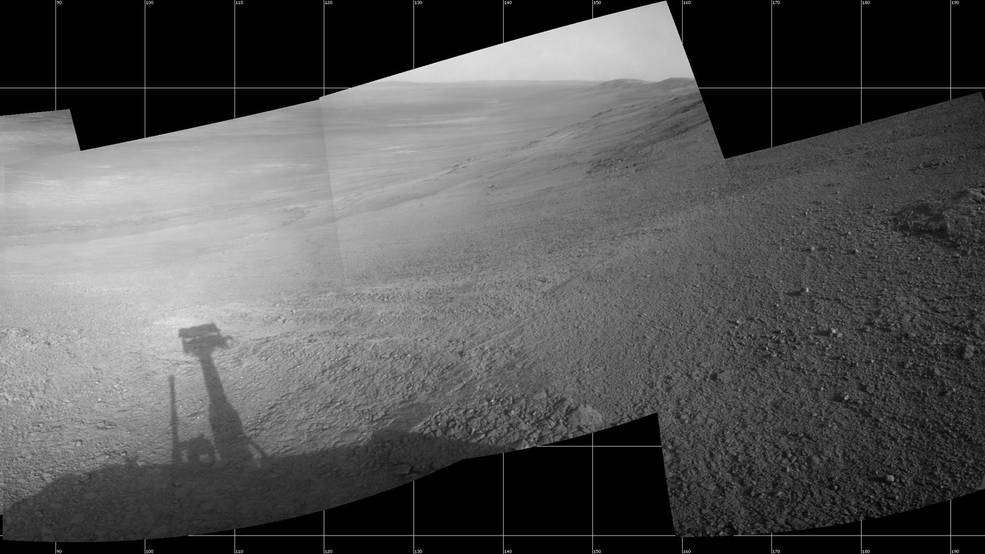 Martian Skies Clearing over Opportunity Rover Pia21724-16