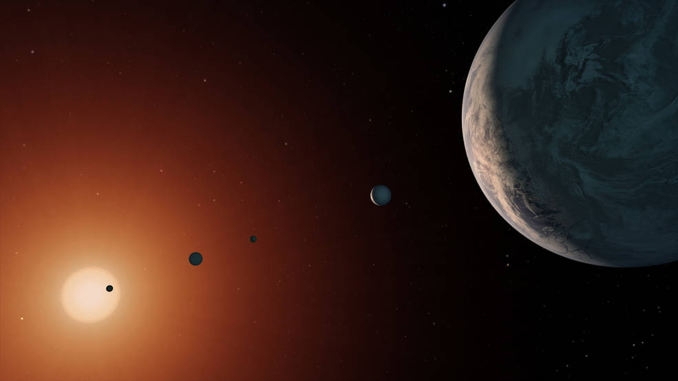 TRAPPIST-1 System - Artist Concept