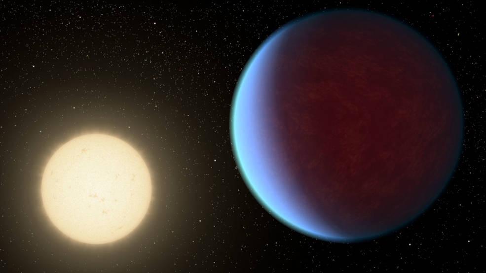 Artist's concept of super-Earth exoplanet 55 Cancri e