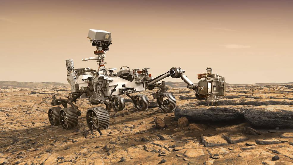 Artist's rendition depicts NASA's Mars 2020 rover
