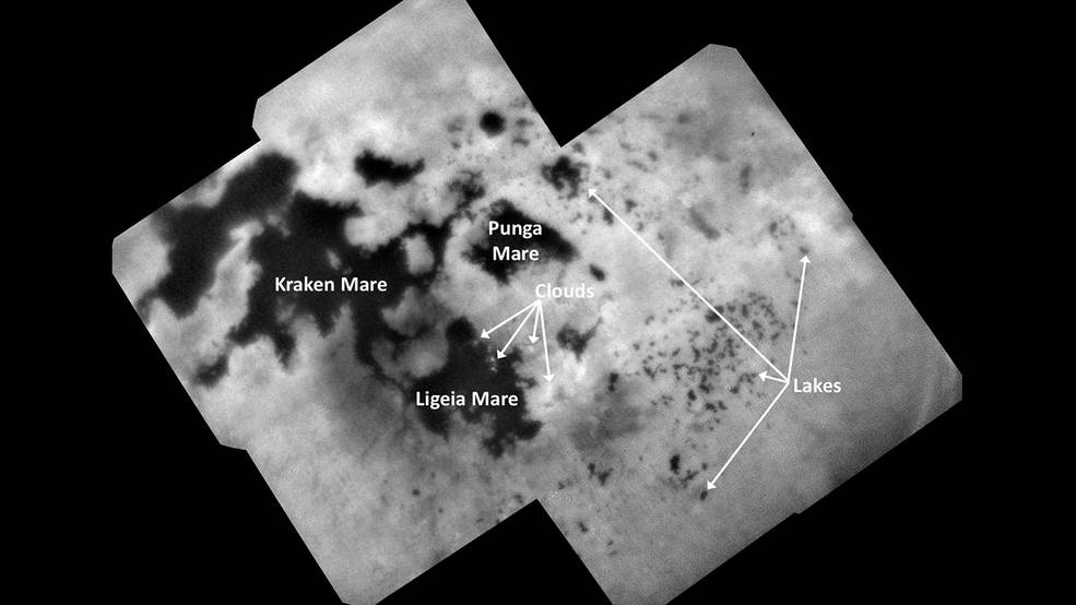 Cassini's Final View of Titan's Northern Lakes and Seas Pia22481-16