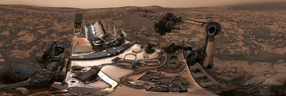 NASA's Curiosity rover at its location on Vera Rubin Ridge
