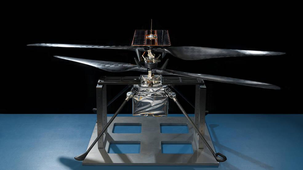 flight model of NASA's Mars Helicopter