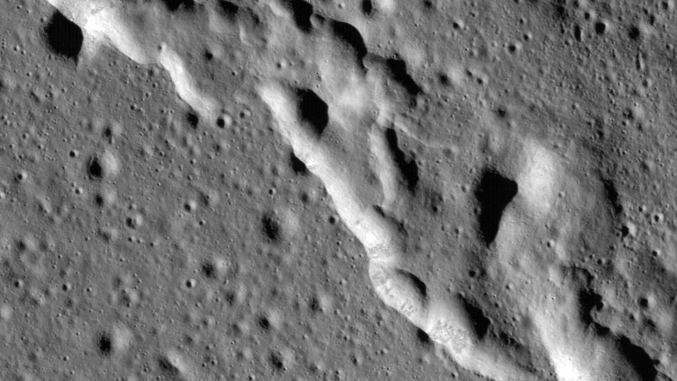 Region of the Moon called Mare Frigoris
