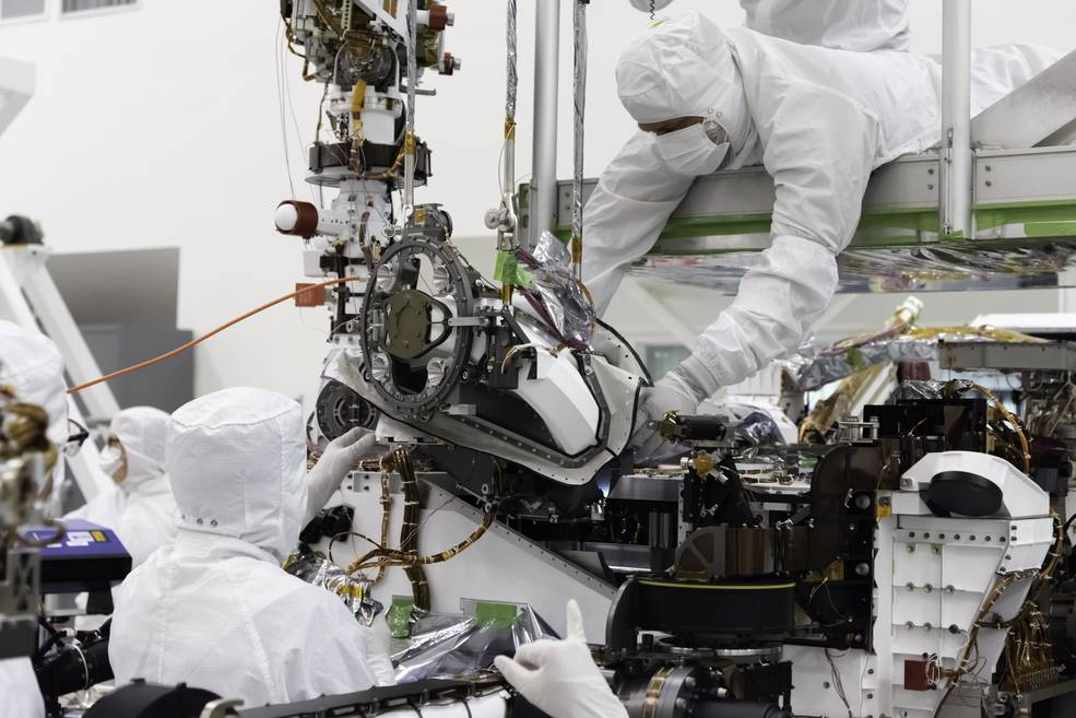 The bit carousel, which lies at the heart of Sample Caching System of NASA's Mars 2020 mission