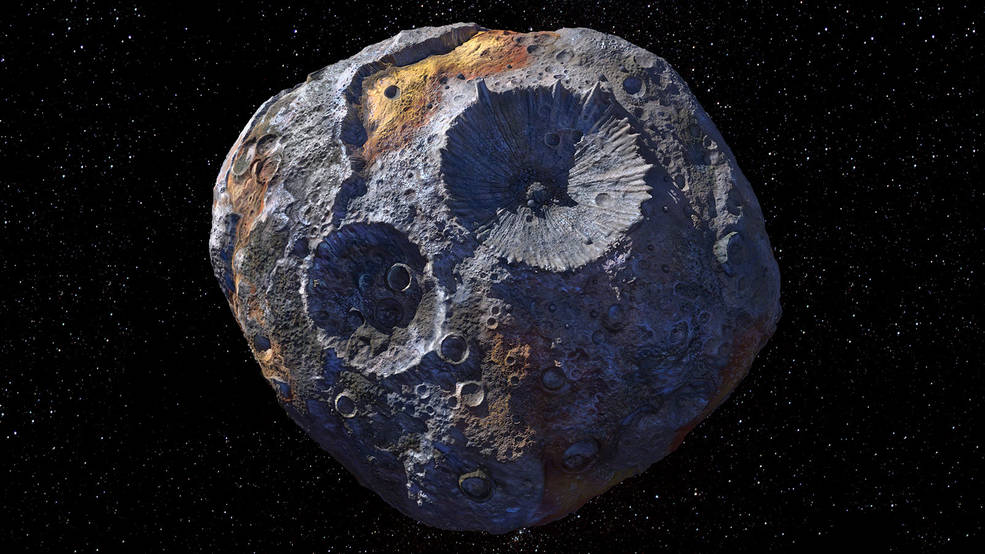 artist's concept depicts the asteroid Psyche