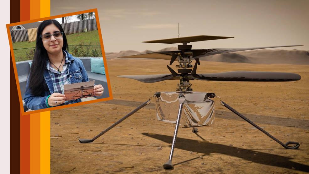 Vaneeza Rupani and Mars helicopter