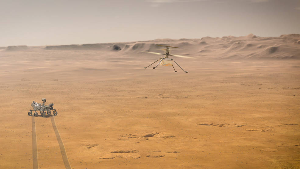NASA's Ingenuity Mars Helicopter attempts its first test flight on the Red Planet