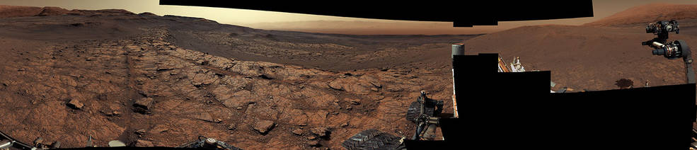 This panorama, made up of 122 individual images stitched together, was taken by NASA's Curiosity Mars rover