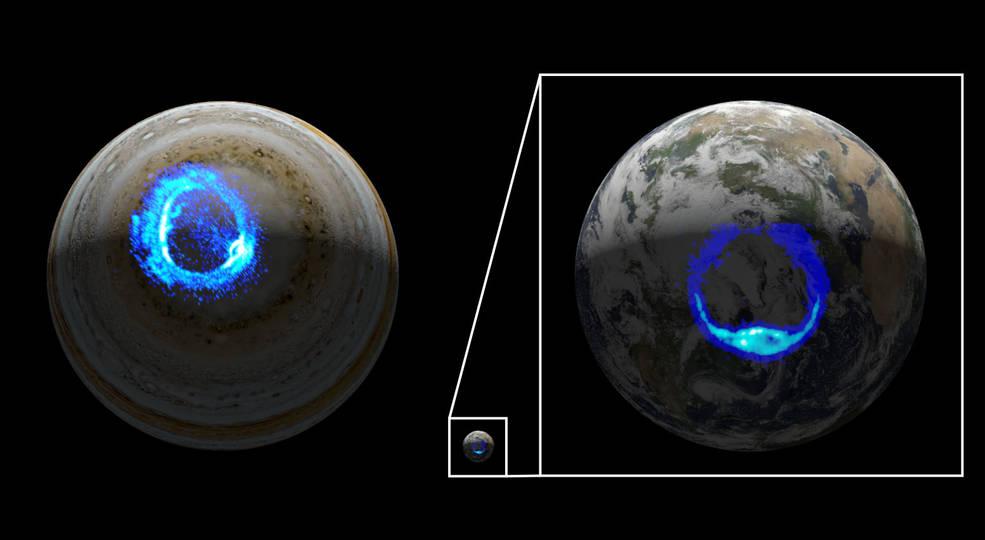 La misión Juno de la NASA, revela los orígenes de uno de los grandes espectáculos de luces de Júpiter
