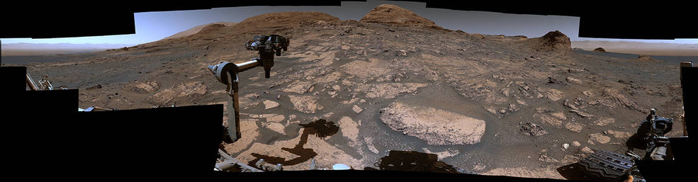 360-degree view of Mars on July 3, 2021