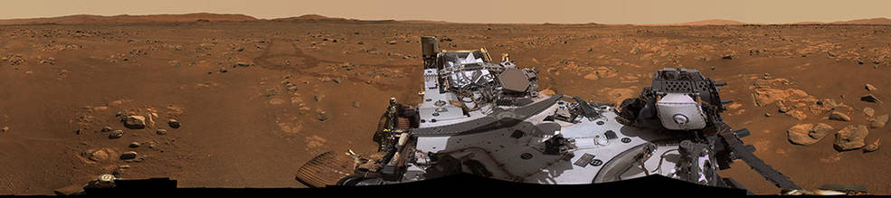 Perseverance's Mastcam-Z imaging system captured this 360-degree panorama