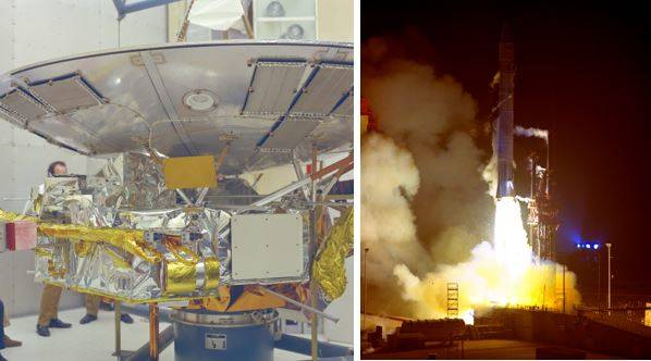 Pioneer spacecraft and launch