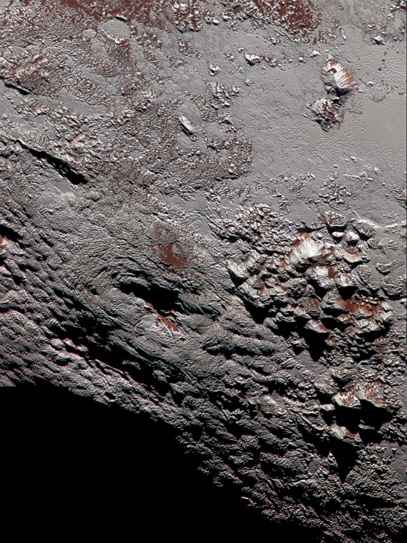 Image of possible cryovolcano on Pluto