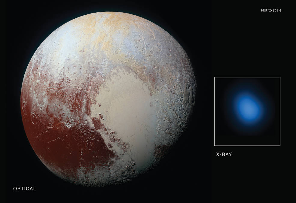 The first detection of Pluto in X-rays has been made using NASA's Chandra X-ray Observatory.