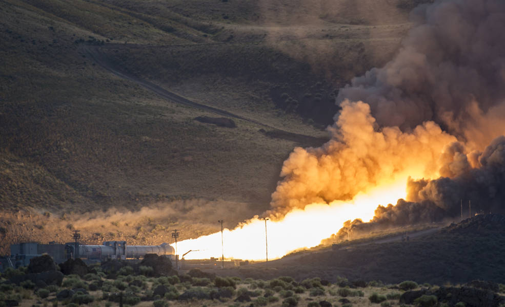 The second and final qualification motor (QM-2) test for the Space Launch System's booster