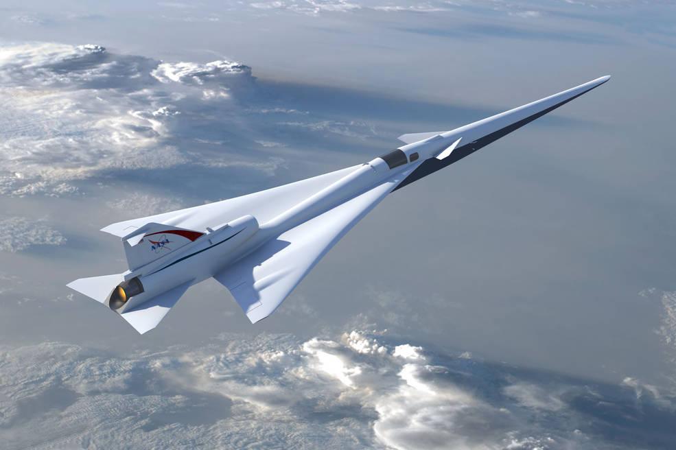 Beginilah purwarupa pesawat supersonic X-59 Quesst, berkecepatan tinggi tetapi senyap.