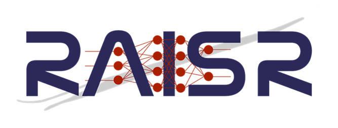 logo text: RAISR with graphics