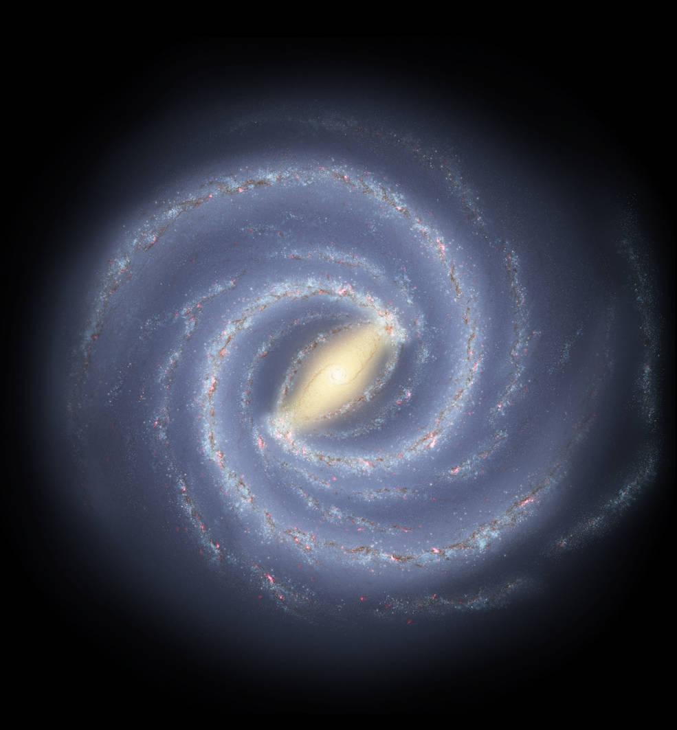 Gas aglomerado y reciclado de las estrellas, rodea la Vía Láctea.