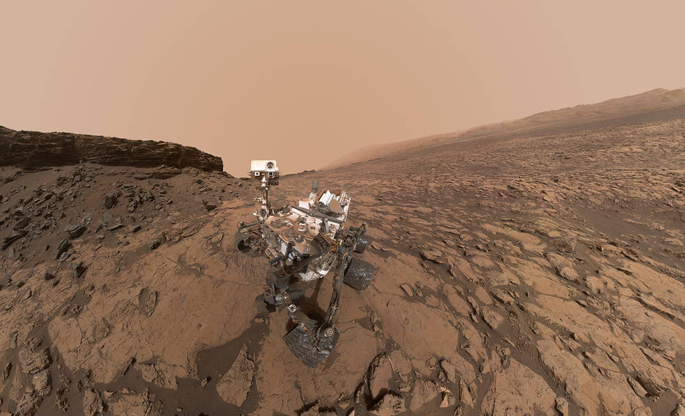 Selfie taken by Curiosity the Mars rover