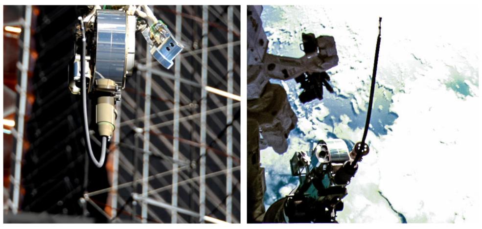 El VIPIR2 extiende su cámara para ser insertada en la Misión de Reabastecimiento Robótico 3.