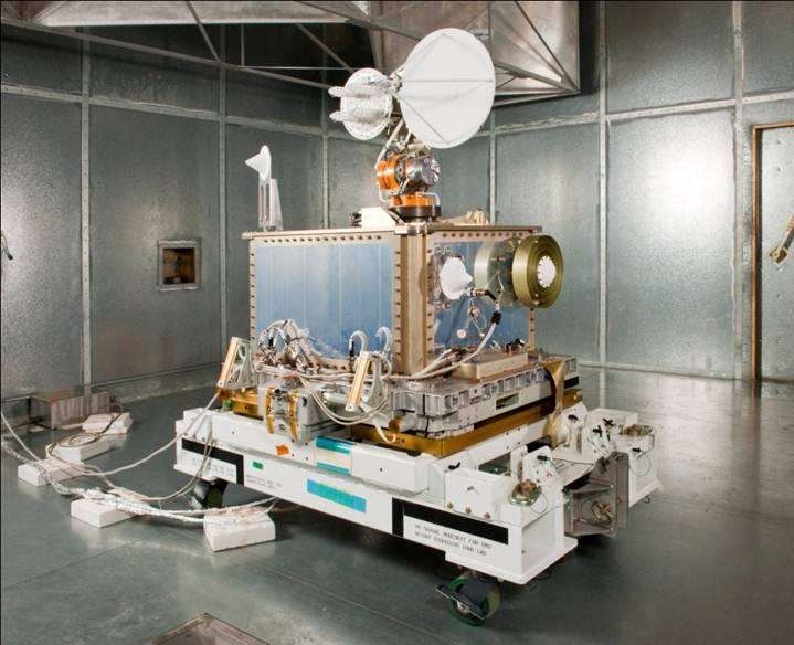 El banco de pruebas SCaN antes del lanzamiento a la Estación Espacial Internacional.