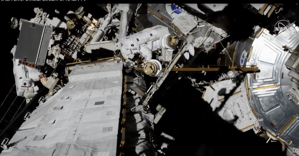 NASA astronauts Christina Koch and Jessica Meir conduct the first all-women spacewalk.