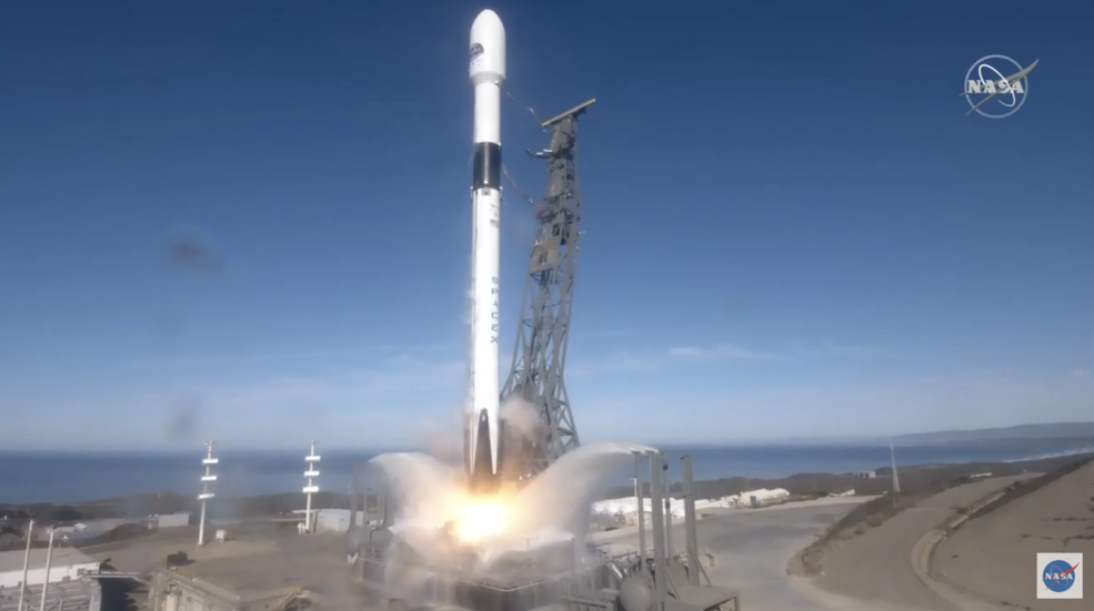 The Sentinel-6 Michael Freilich ocean observation satellite at lift off