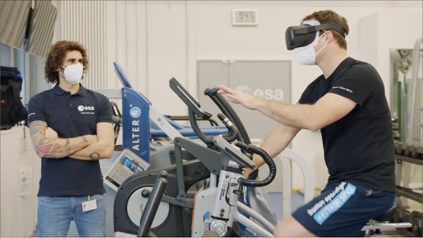 image of astronaut testing VR experiment