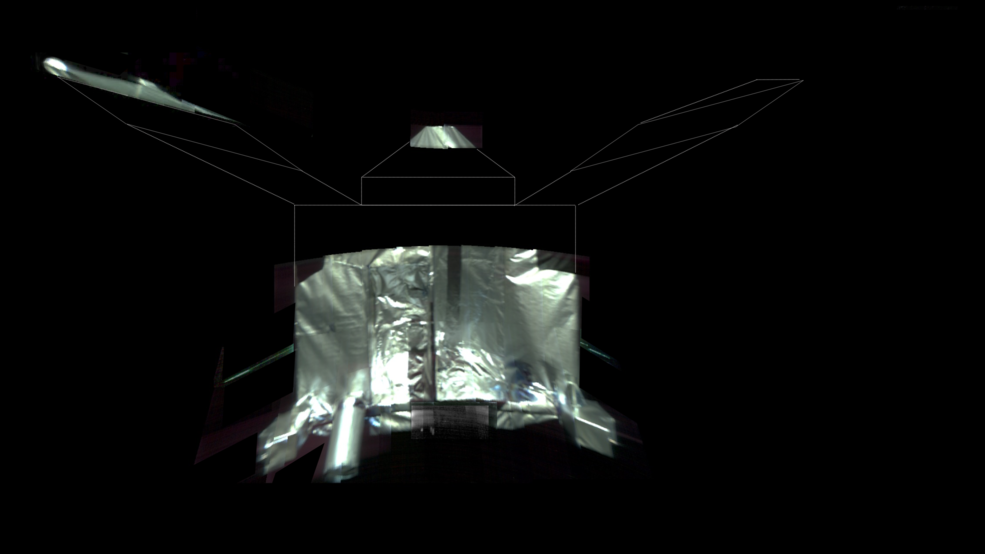 distorted photo composite of spacecraft