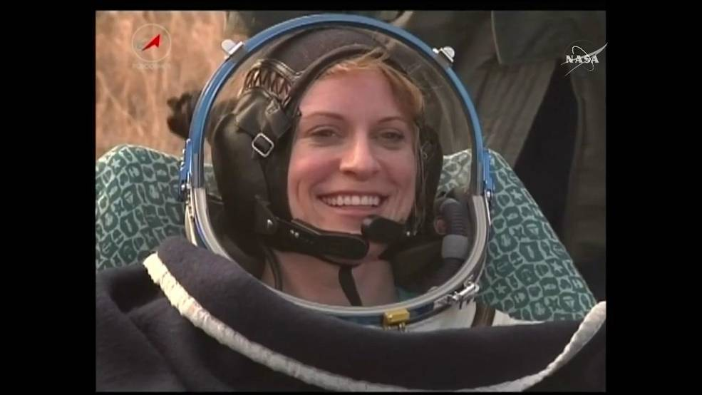 NASA astronaut Kate Rubins after Soyuz landing
