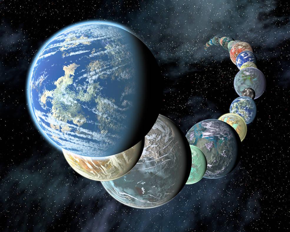 Концепция этого художника иллюстрирует идею о том, что скалистые земные миры, подобные внутренним планетам нашей Солнечной системы, могут быть
