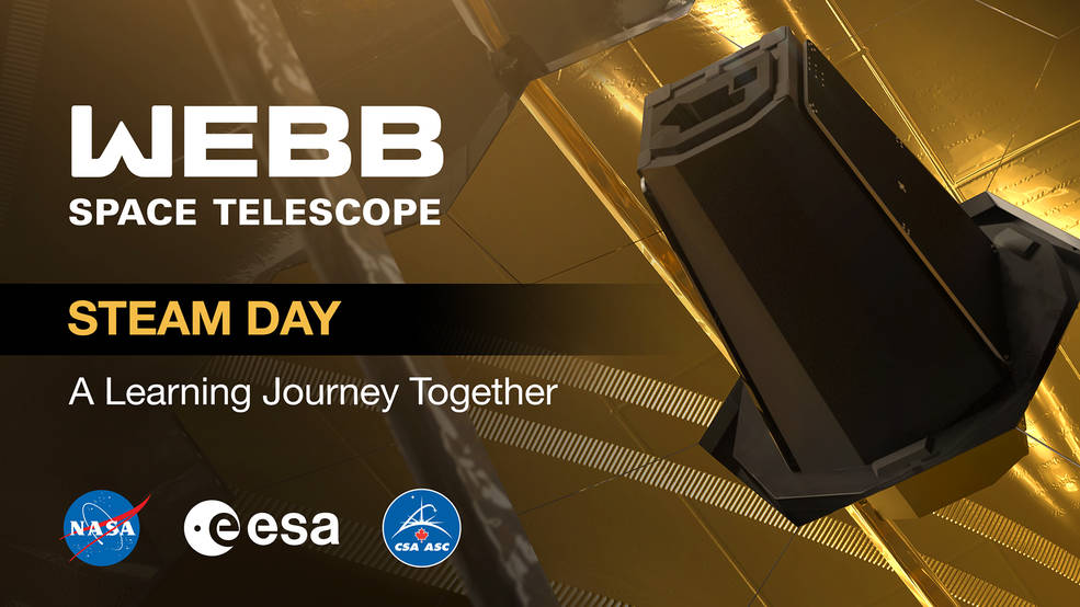 Graphic for Webb Telescope STEAM Day: A Learning Journey Together