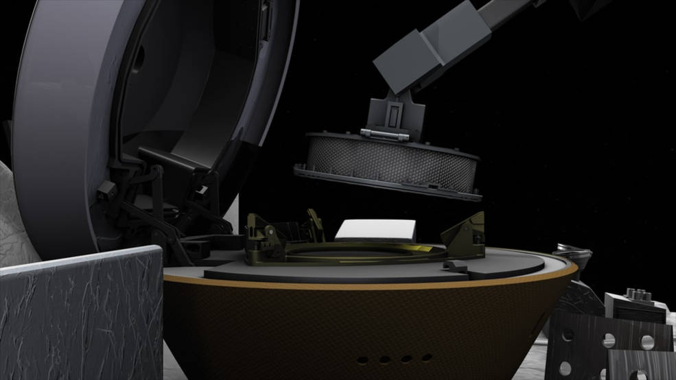 La nave espacial OSIRIS-REx de la NASA obtiene la primera muestra de asteroide.