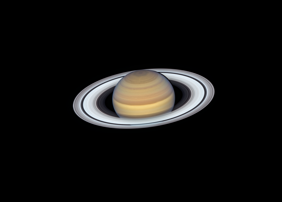 Photo of Saturn from Hubble telescope