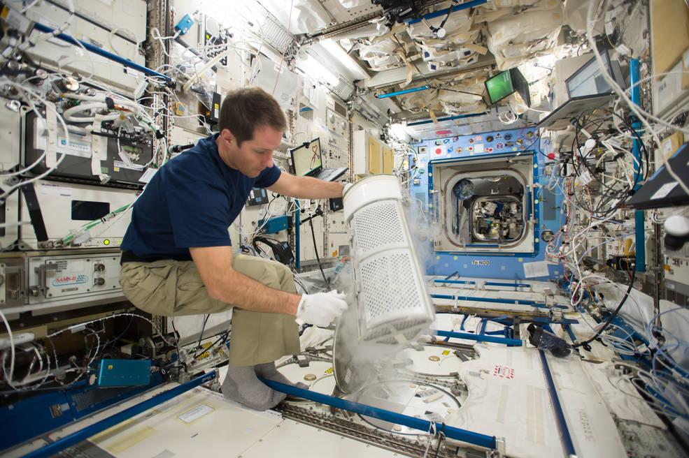 Expedition 50/51 Flight Engineer Thomas Pesquet of ESA (European Space Agency)