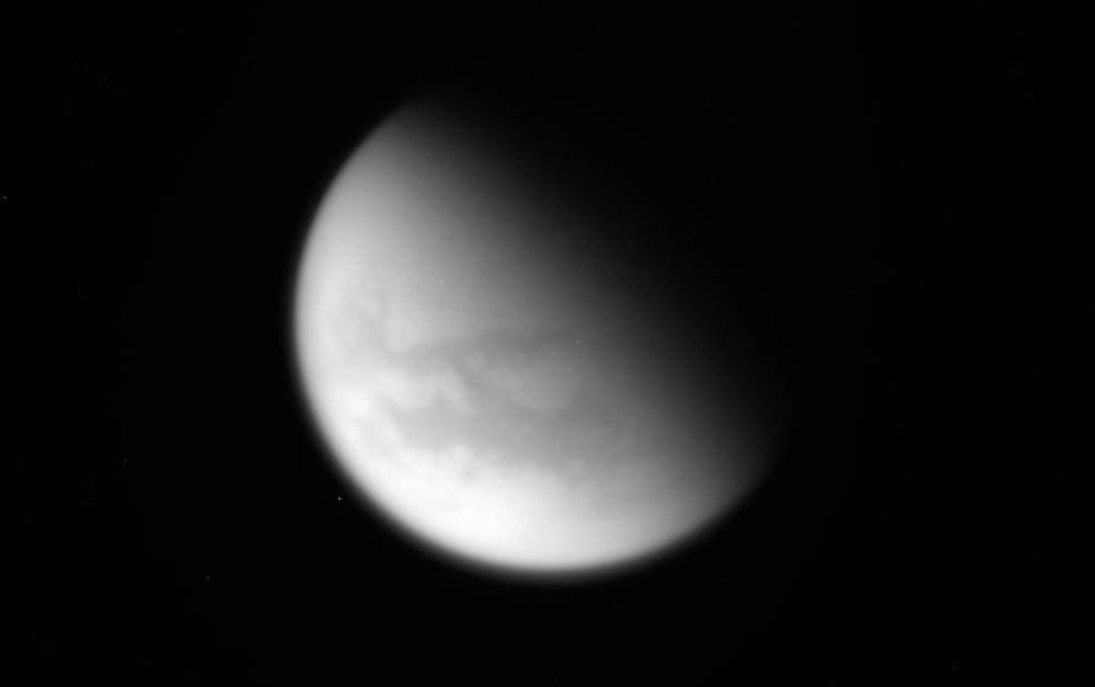 Unprocessed image of Saturn's moon Titan