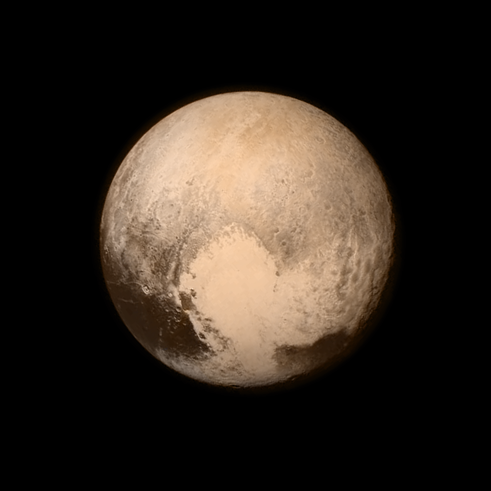 NASA - Pluto from less than half a million miles away