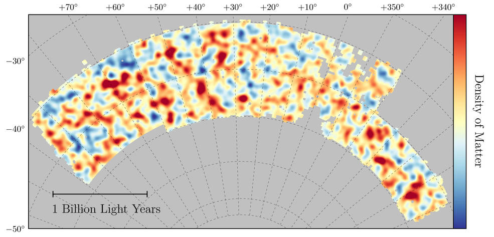 Map of dark matter