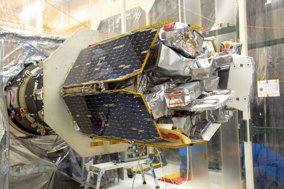 NASA's Ionospheric Connection Explorer (ICON) is attached to the Northrop Grumman Pegasus XL rocket