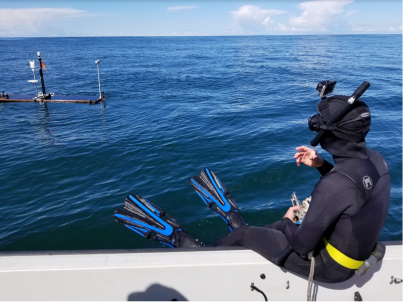Decked out with solar panels and several scientific instruments, the wave glider will propel itself from Santa Catalina Island farther out to sea.