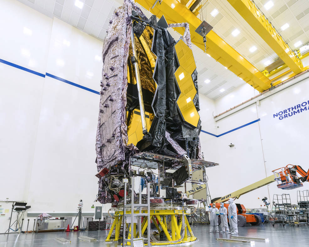 NASA's James Webb Space Telescope is seen here being prepared for shipment to its launch site.