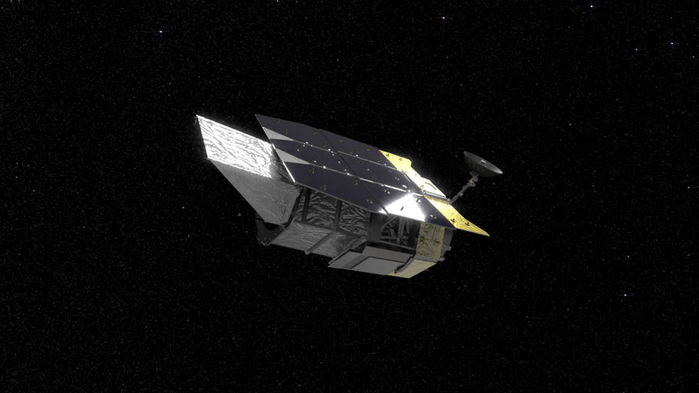Illustration of NASA's Wide Field Infrared Survey Telescope (WFIRST)