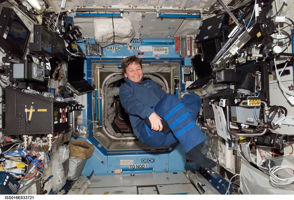 NASA astronaut Peggy Whitson served as commander of the International Space Station's Expedition 16 in March 2008.