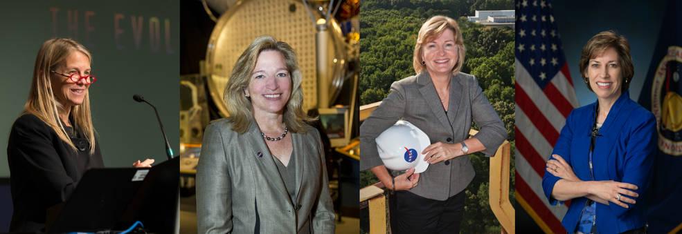 Deputy Director Dava Newman, Chief Scientist Ellen Stofan, Deputy Associate Administrator Lesa Roe, JSC Director Ellen Ochoa